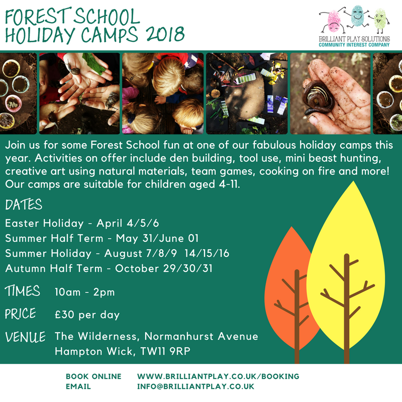 Forest School Holidays Camps 2018 (3)