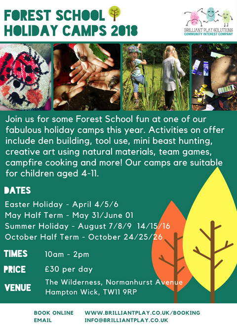 Forest School Holidays Camps 2018 (6)